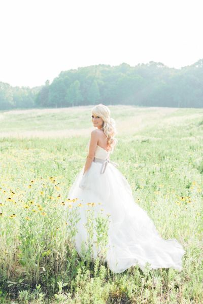 Emily Maynard's stunning Modern Trousseau gown: http://www.stylemepretty.com/2014/09/22/emily-maynards-surprise-wedding-to-tyler-johnson/ | Photography: Corbin Gurkin - http://corbingurkin.com/