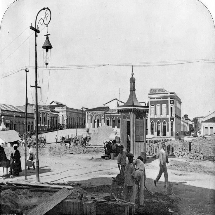Praça Tamandaré. Manaus. Álbum do Amazonas 1901-1902.