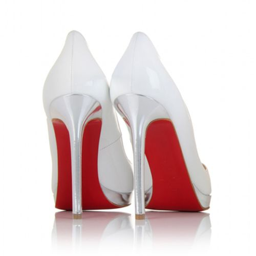 Christian Louboutin  Pigalle Plato 120mm Pumps White1 on the lookout for limited offer,no duty and free shipping.#shoes #womenstyle #heels #womenheels #womenshoes  #fashionheels #redheels #louboutin #louboutinheels #christanlouboutinshoes #louboutinworld