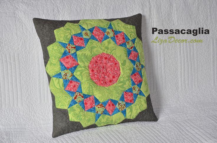 #patchwork #passacaglia #tutorial #video #vzory #lizadecor #quilt #šablony #pattern