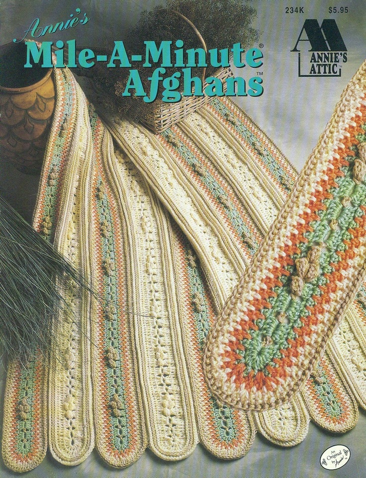 Crochet Stitches Mile A Minute : Annies Attic Crochet MILE-A-MINUTE AFGHANS Aran Southwest Victorian ...
