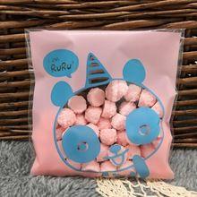 10 cm * 10 cm 50 Stks Leuke Panda Cookie Moistuer Proof Zelfklevende Plastic Verpakking Zakken Biscuit Cupcake Gebakken voedsel Pakket Pouches(China (Mainland))