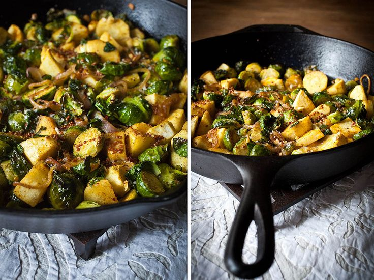, crispy Brussels sprouts, and caramelized shallots tossed in a Dijon ...
