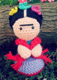 muñeca crochet frida kahlo - Buscar con Google