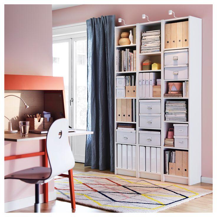 BILLY white, Bookcase, 40x28x202 cm   IKEA   White ...