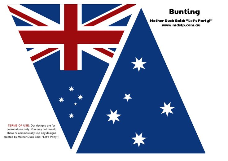 Free printable Australia flag bunting (from Mother Duck Said Let's Party!)