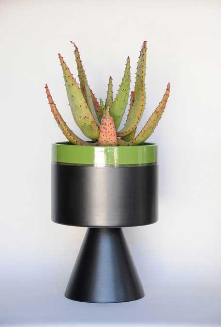 MCM Planter w/succulent