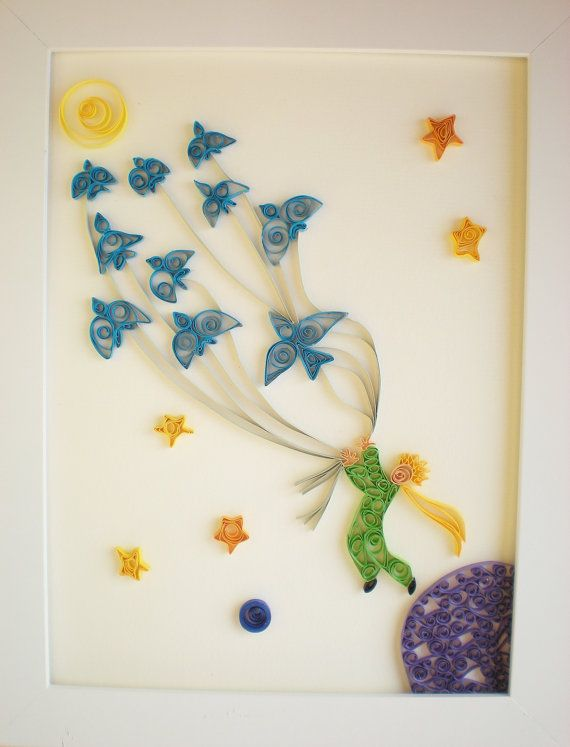 Etsy quilled-paper-art-the-little-prince