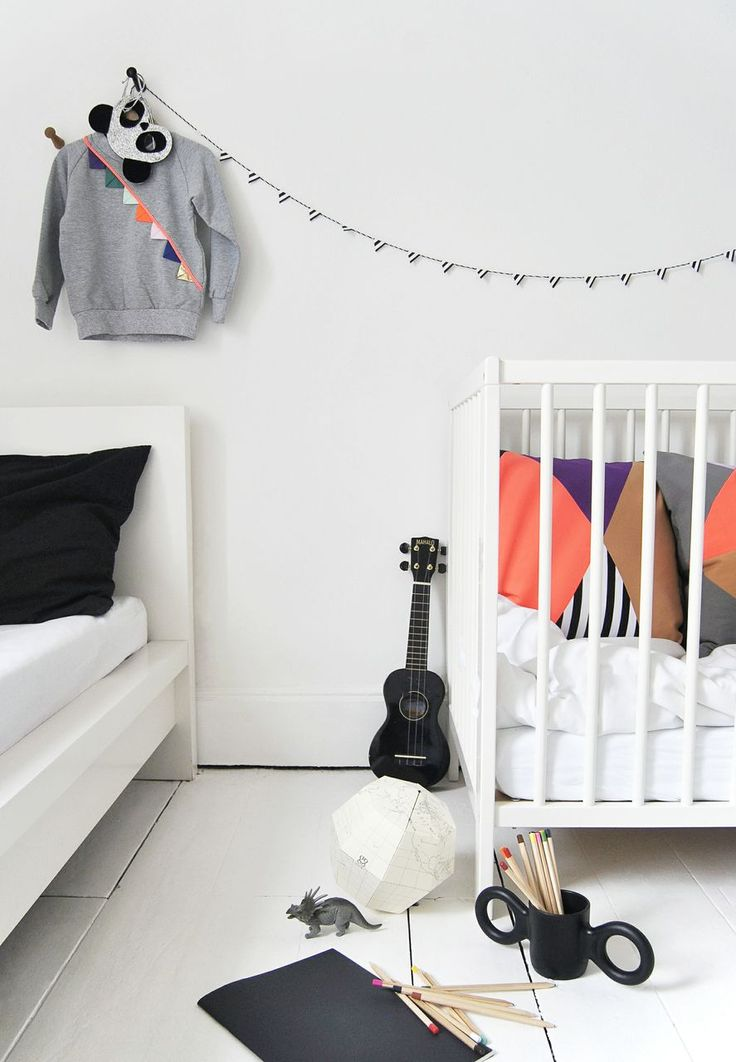 black&white room with an colorful graphic touch - Bang Bang Copenhagen A/W photographs by Ollie & Sebs Haus