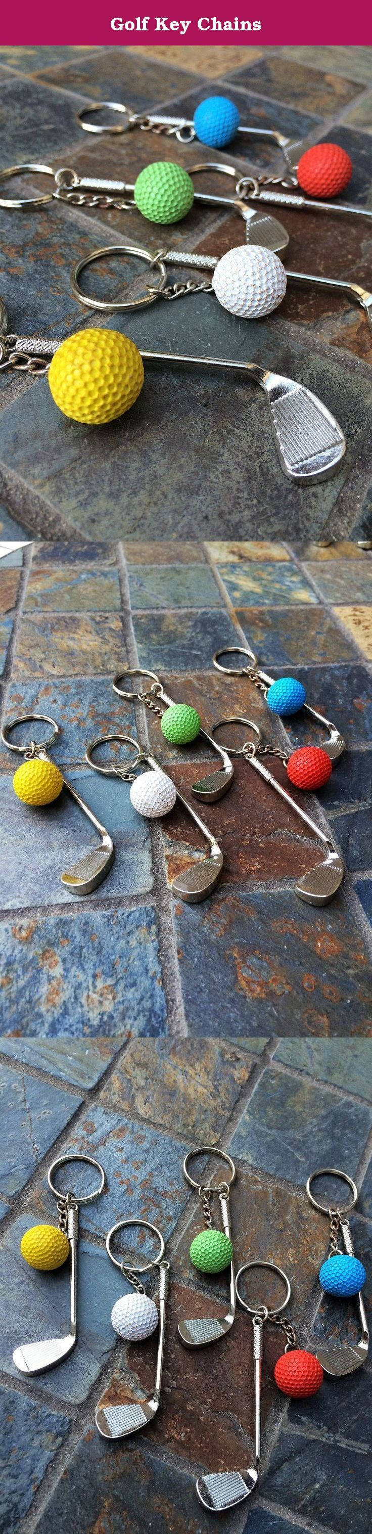 """Golf Key Chains. Looking for a little something for the golf enthusiast who has EVERYTHING! Try these super cute golf themed keychains! They are affordable enough to be given away as party favors too. Have some fun and give a gift that will make your loved one say """"Wow! That's pretty cool!""""."""
