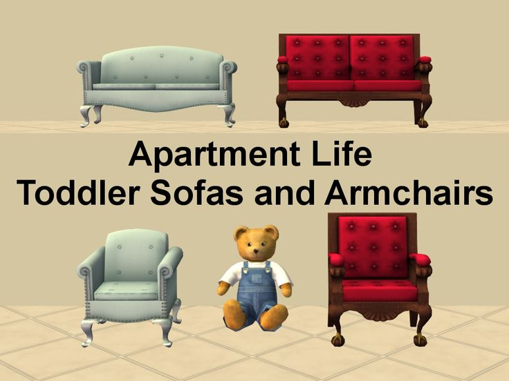 Mod The Sims - AL Toddler Armchairs and Sofas