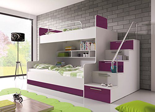 """Bunk Bed """"TALA"""" with foam mattresses for 2 children, func... https://www.amazon.co.uk/dp/B00T8NYHEA/ref=cm_sw_r_pi_dp_EfqkxbKKRR0G6"""