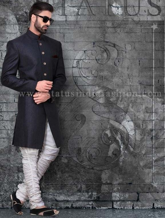 Mens wear, groom wedding dress, groom sherwani, designer indo western, bright…