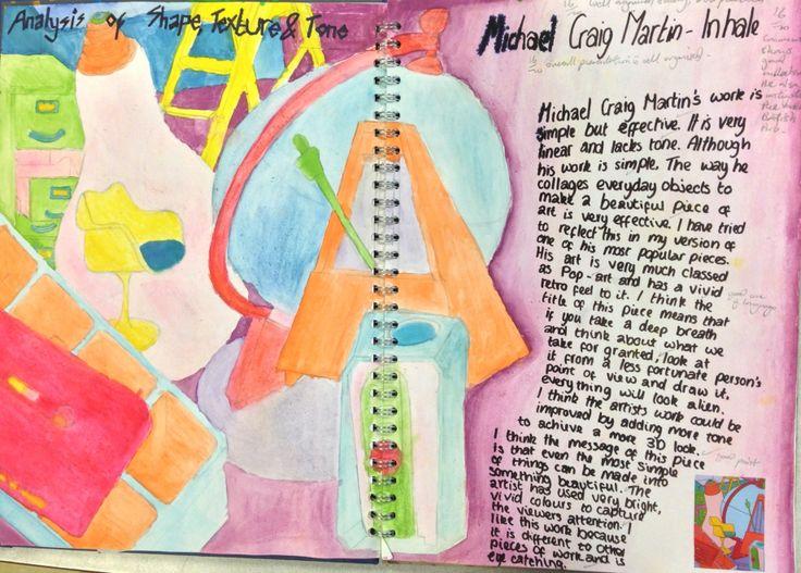 Rebekah, AO1 GCSE Portfolio Project. St Mary's Catholic High School