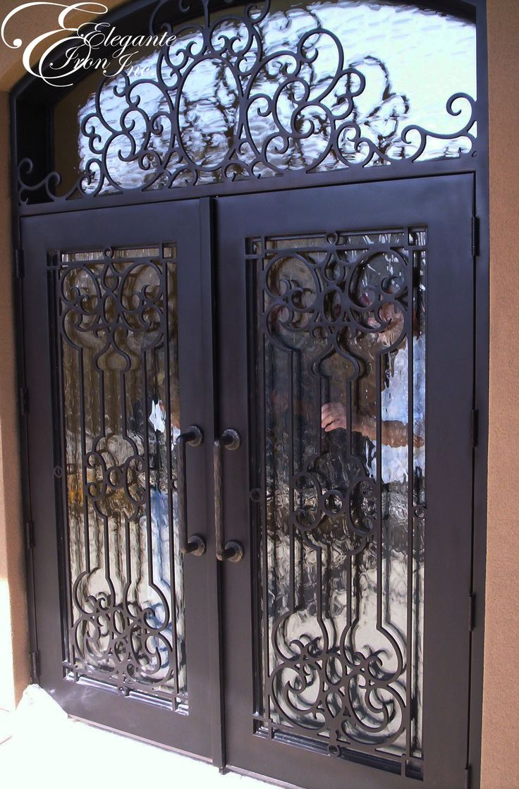 17 best images about double doors on pinterest arches - Wrought iron exterior door hardware ...