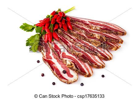Spicy Smoked Bacon Sliced - csp17635133