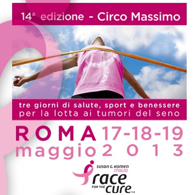 Poste Italiane con le donne per Race for the cure 2013: Poste Italiane sostiene le donne durante la XIV edizione romana di Race for the cure, l'evento di sensibilizzazione per la lotta ai tumori al seno.