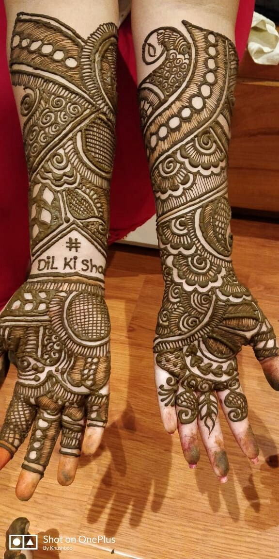 Easy Modern Full Hand Mehndi Design