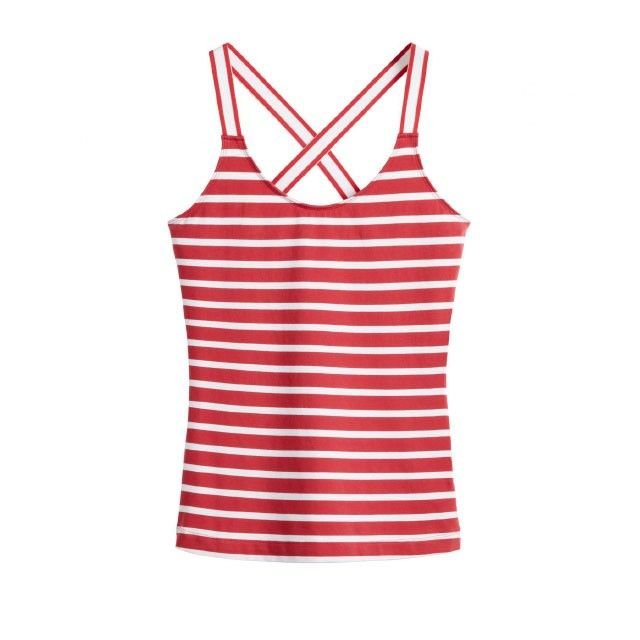 Sandwich Clothing Striped Vest Top Red