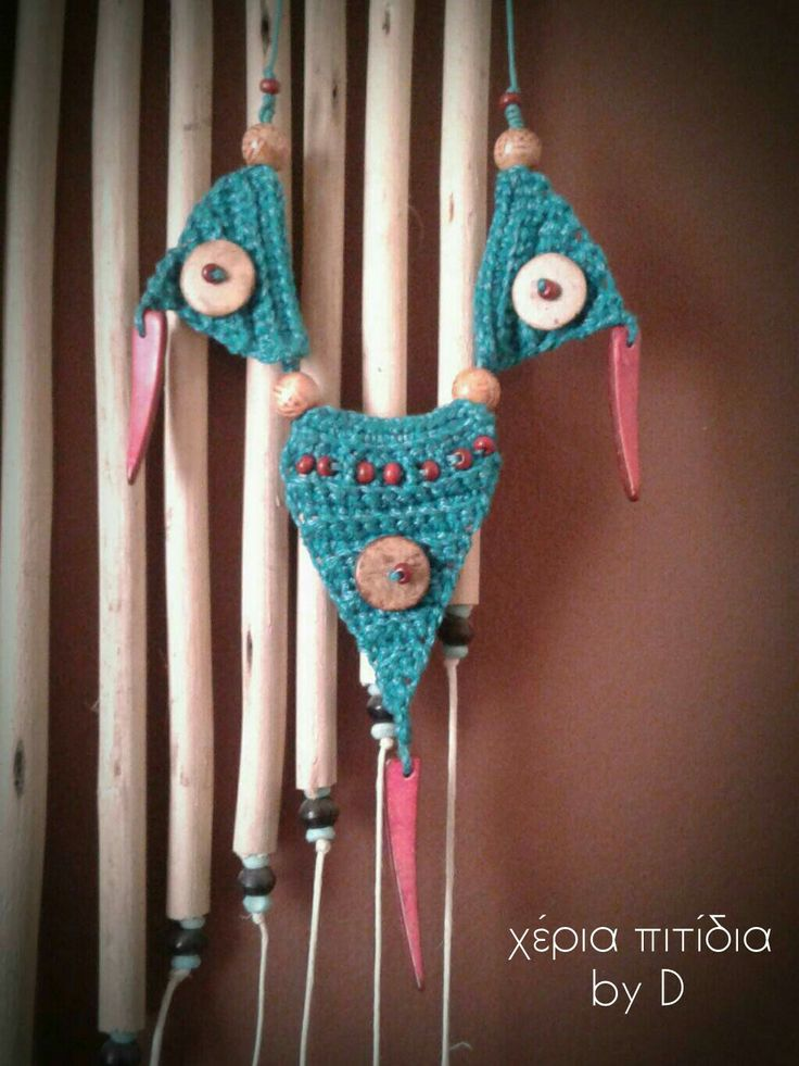 Crochet necklace.