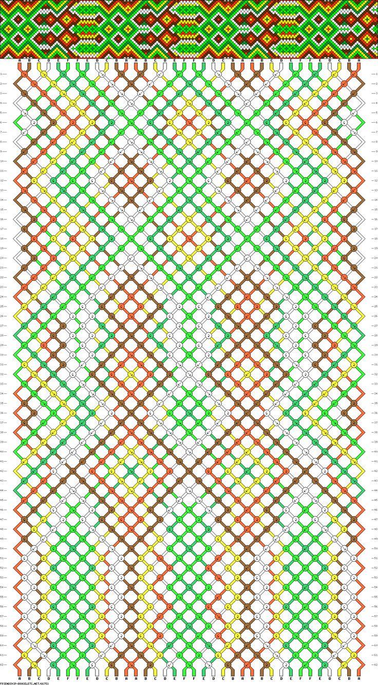 36 strings, 62 rows, 6 colors