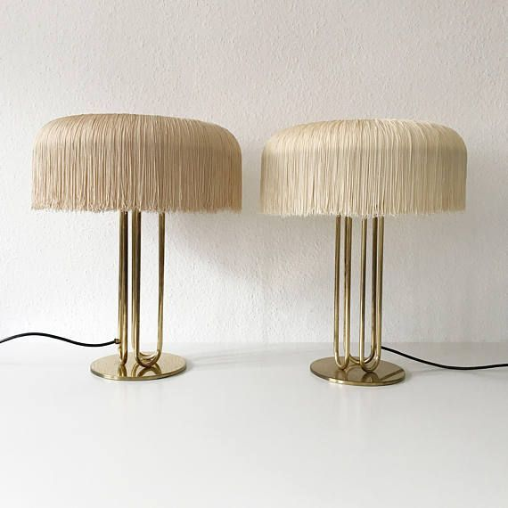 Pair Extremely Rare Mid Century Modern Table Lamps By Mid