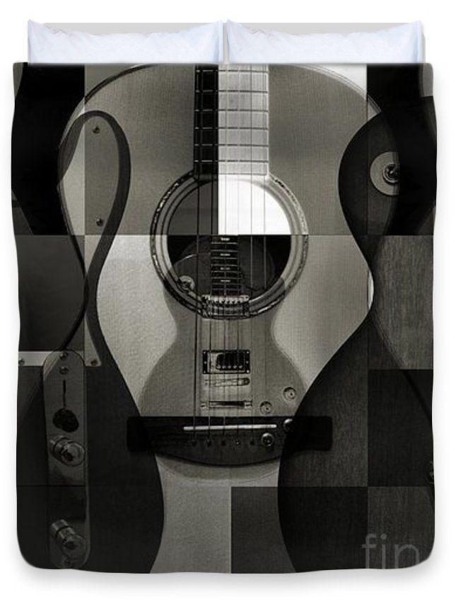 Platinum Strings Duvet Cover by Eric Rasmussen