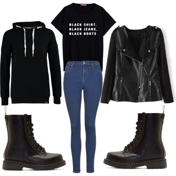 V - I Need You by clemerina on Polyvore featuring polyvore fashion style ONLY Topshop Dr. Martens