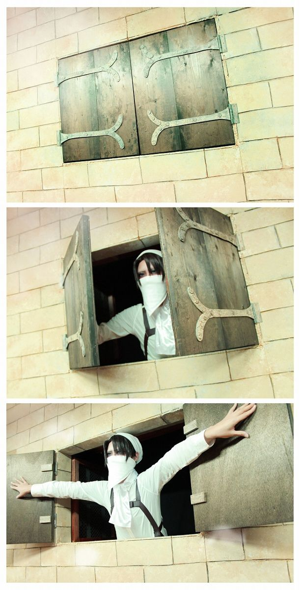 Levi from Shingeki no Kyojin... OMG, Levi's cosplays are the best XDDD I'm dying