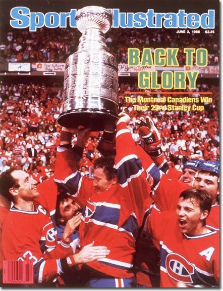 """Sport Illustrated Cover June 2, 1986. Habs are """"Back to Glory"""""""