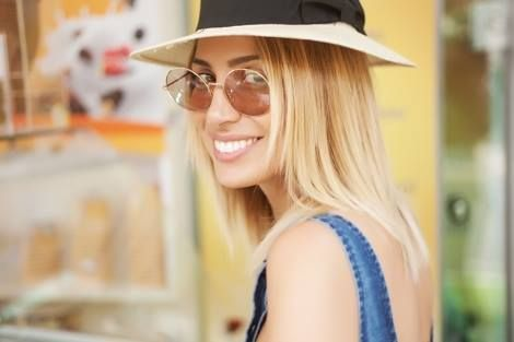 Maria Iliaki in Original Vintage Sunglasses