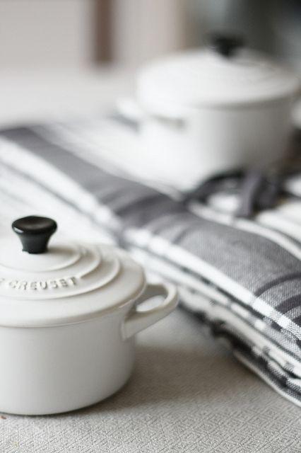 White le creuset casserole! So beautiful!