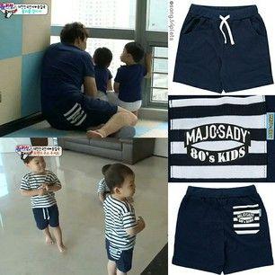 Instagram photo by song.triplets - SIK's shorts in ep 42 and the triplets' shorts in ep 44 are from Majo & Sady - Dad/ Kids Stripe Pocket Short Pants. Price: KRW 24,500. #thereturnofsuperman #supermanreturns #varietyshow #tvshow #toddler #supermanisback #songilkook #korean #songtriplets #kids #daehan #minguk #manse #daehanmingukmanse #송일국 #슈퍼맨이돌아왔다 #대한#민국#만세 #대한민국만세