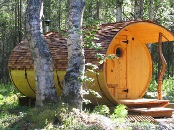 Sauna in Talkeetna Alaska ... Looking very cool