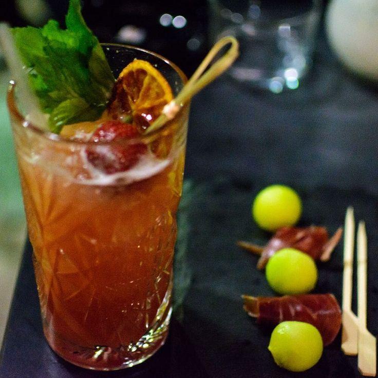 """Cinaball"" my new favorite cocktail#cocktails #lefkada #summer2017 #mellonballs #prociutto #greeksummer #foodie #vodka"