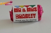 10 Sample Pack Personalised Love Heart Wedding Favour Sweets