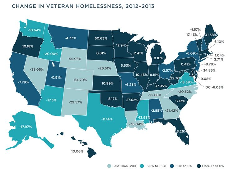 Usa Veteran Homelessness In The State Of Homelessness 2014 Infographic
