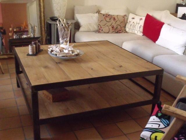 table de salon design bois mtal table basse style industriel meubles et rangements par