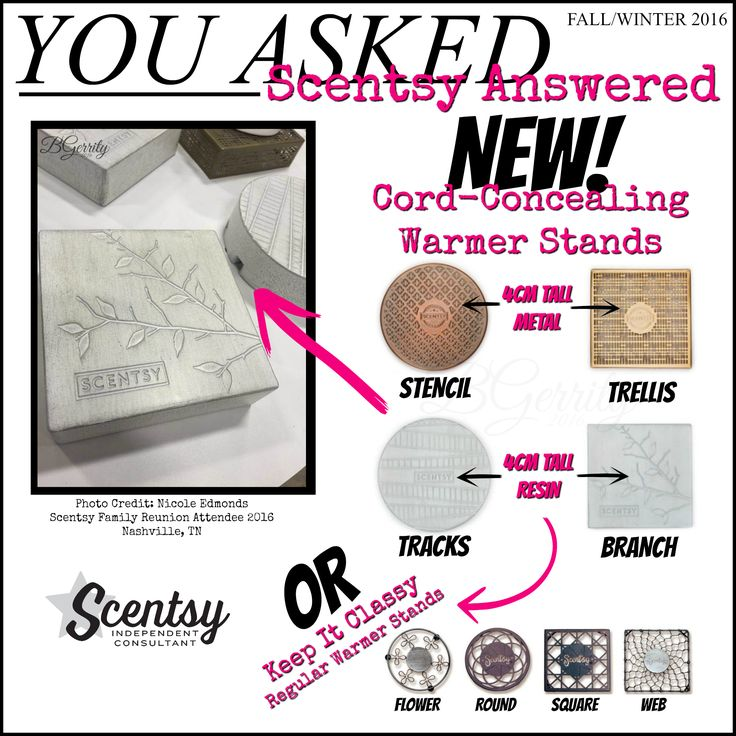 SCENTSY - Fall/Winter 2016 NEW WARMER STANDS FLYER BY: Brittany Gerrity Admin Of: No-Nonsense Canadian Flyer Sharing Group On Facebook www.brittanygerrity.scentsy.ca