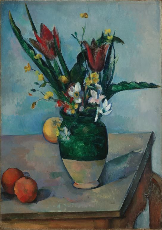 @Kerry Meyer - here's a cezanne for you: The Vase of Tulips - c. 1890 - at the art institute of chicago. i've logged a lot of time staring at this one.