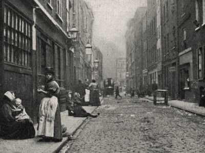 Dorset Street, Spitalfields, East End of London Photographic Print by Peter Higginbotham - AllPosters.co.uk