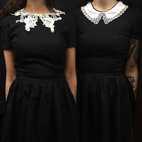 Pinterest:@MagicAndCats ☾ New lace collar dresses available at @deandri.dtla! We will be open tomorrow so stop by and get your New Years looks! 2-6pm dresses will be available online next week #deandri