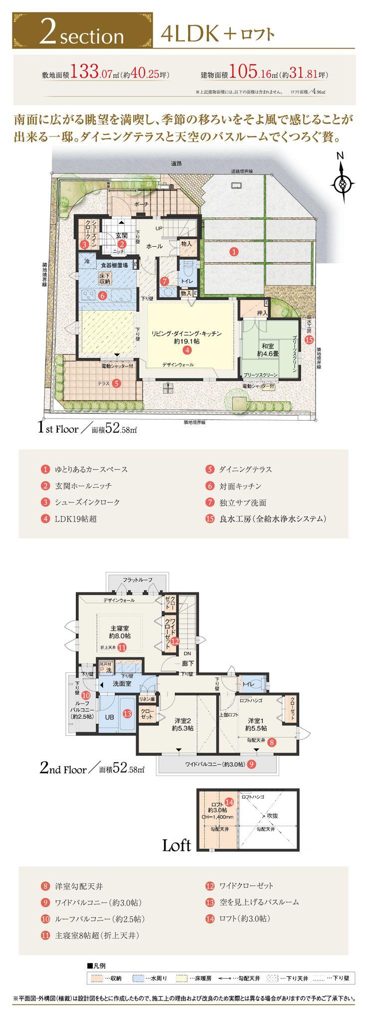 横浜市港北区に誕生する新築一戸建【公式】ジョイコート菊名パールテラッセ | 区画図