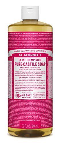 Rose Castile Liquid Soap - 32 oz. - http://essential-organic.com/rose-castile-liquid-soap-32-oz/