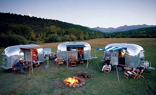 Camping in airstreams. Ready for a little outdoor adventure!