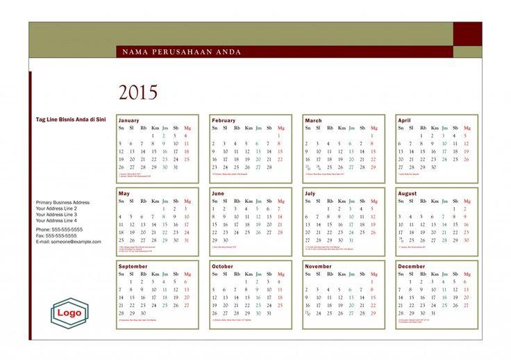 Kalender 2015 Indonesia - Design_35_Quadrant