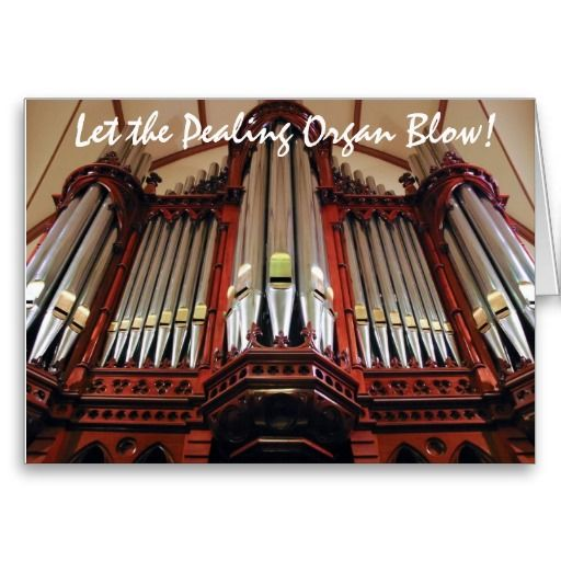 Australian church organ Christmas greeting card