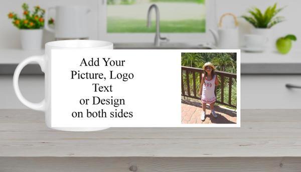 Custom Personalised Photo Image Text Mugs Coffee Tea Promotional Business Gift 2