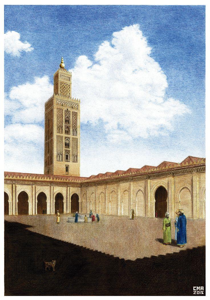 Recreación de la Mezquita aljama de Sevilla s.XII