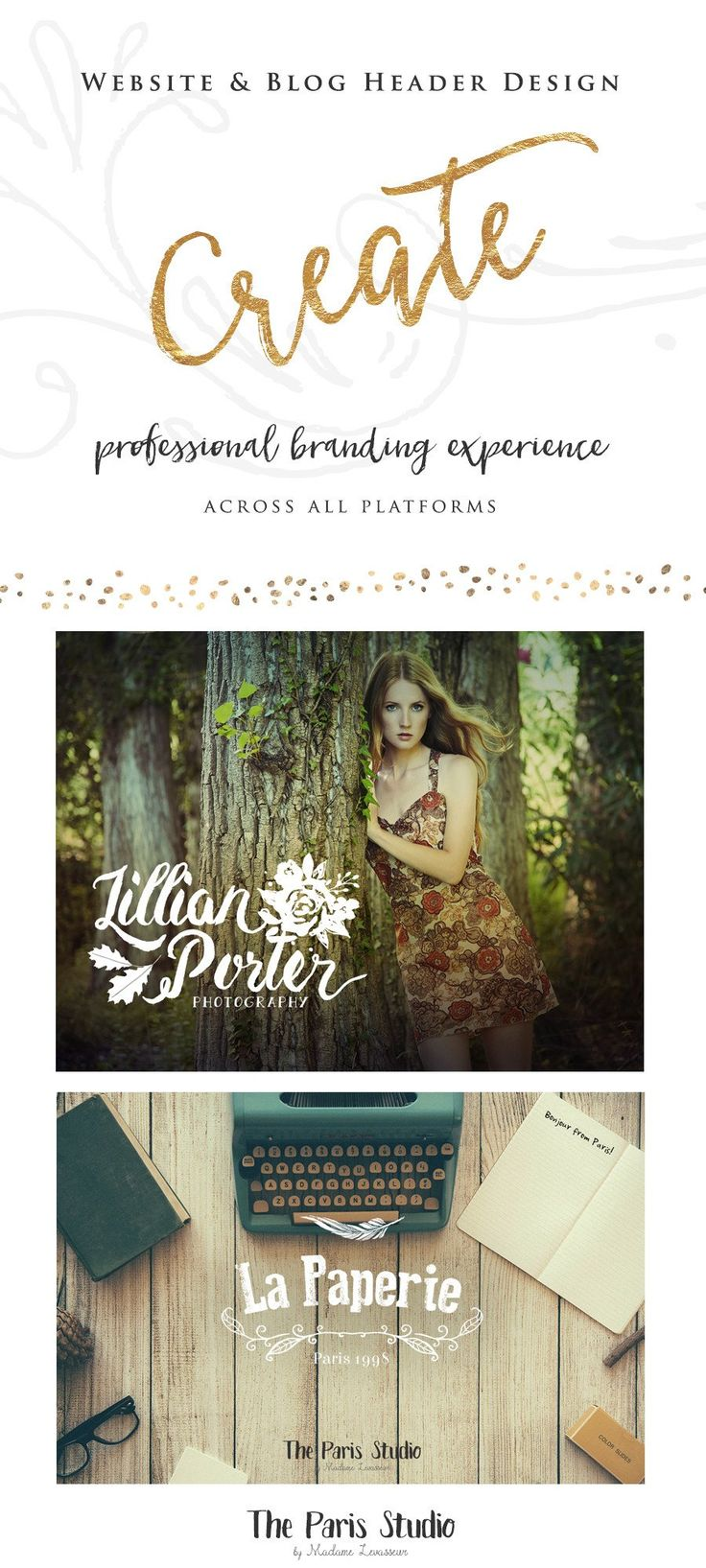 This is a basic branding package perfect for those of you needing a LOGO with a HEADER image designed for your website or your blog. It can also be used for you